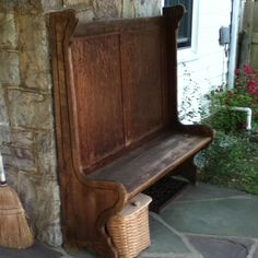 old settle bench