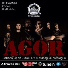 Como escucharnos:  #EuforiaMetal Radio #LaRockFM #Tunein  http://tunein.com/radio/Euforia-Metal-Radio-s129069/  http://www.euforiametalradio.listen2myradio.com  http://www.euforiametal.com  http://91.121.134.23:8001/euforiametal.mp3   http://91.121.134.23:8000/euforiametal.mp3  http://83.142.226.45:8866  105.5 FM En Nicaragua www.larockfm.com