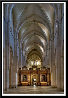 Pontigny Abbey nave - Cistercian - France dated from 1114 à vérifier Romanesque Architecture, Church Architecture, Amazing Architecture, Medieval, Thomas Merton, Built Environment, Sculpture, French Food, 12th Century
