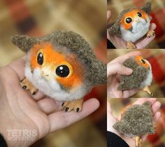 Dolls Porgs from new movie StarWars 2018. *--* Like angry birds! Haha Now not in stock. Only to order, it would takes time