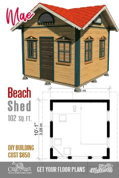 Every thought about how to house those extra items and de-clutter the garden? Building a shed is a popular solution for creating storage space outside the house. Whether you are thinking about having a go and building a shed yourself Wood Shed Plans, Shed Building Plans, Diy Shed Plans, Storage Shed Plans, Cabin Plans, Garden Storage Shed, Outdoor Storage Sheds, Outdoor Sheds, Micro House Plans