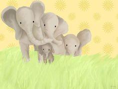 Elephant Parade Canvas Canvas Art