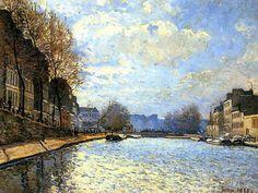 Sisley, St Martin Canal 1870 - Alfred Sisley - Wikipedia, the free encyclopedia