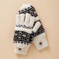 Diamond-Knit Mittens Sundance Catalog Holiday 2011 $30