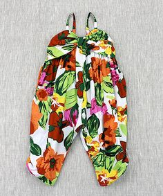 Loving this Green & Red Floral Jumpsuit - Toddler & Girls on #zulily! #zulilyfinds