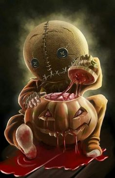 Creepy child wearing Halloween mask with a bloody pumpkin. Tags: Awesome Scary Great Creepy child wearing Halloween mask with a bloody pumpkin. Looks Halloween, Halloween Horror, Halloween Art, Halloween Wreaths, Halloween Cupcakes, Halloween Cosplay, Halloween Makeup, Halloween Costumes, Creepy Kids