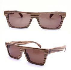 KNIGHT handmade vintage zebra wood  glasses eyeglasses with prescription lenses