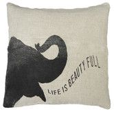 Found it at Wayfair - Elephant Speaking Life is Pillow