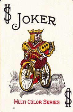 1920's Bicycle Brand joker