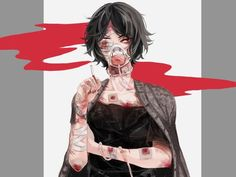 Bloody Bandaged anime girl Guro