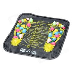 Healthy Foot Care Massage Mat Pad - Black