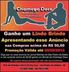 Notícias de São Pedro da Aldeia: Chamego Doce Moda Íntima & Acessórios - Novidades dessa semana no Sex Shop da Chamego Doce