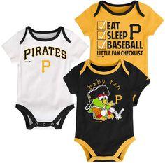 Baby Los Angeles Lakers Little Fan 3-Piece Bodysuit Set  736096326