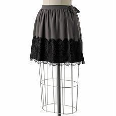 Skirt with Lace Overlay