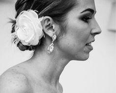 Arranjo com Flor Branca para Noiva