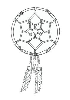 Native American Dreamcatcher coloring page