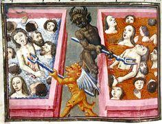 Hot and cold bath Livre de la Vigne nostre Seigneur, France ca. 1450-1470 (Bodleian Library, MS. Douce 134, fol. 83v) Discarding images