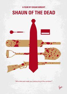 No349 My Shaun of the Dead minimal movie poster Art Print by Chungkong | Society6