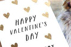 Scattered Hearts Foil Valentine Cards
