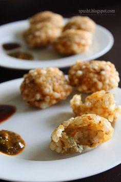 Spusht | Vegetarian Recipes, How-To Posts, Entertaining Ideas, and more: Sabudana Vada Recipe | Snack Idea