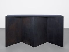The Brooklyn furniture studio Uhuru, known for making work from primarily salvaged materials, have a sleek new collection that would make Donald Judd proud. Lane Furniture, Metal Furniture, Cheap Furniture, Furniture Design, Industrial Shop, Steel Cabinet, Corten Steel, Steel Bar, Modern Landscaping