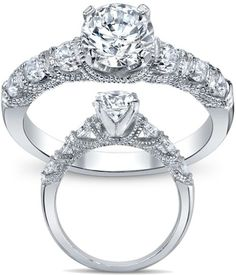 Diamond Waves Engagement ring