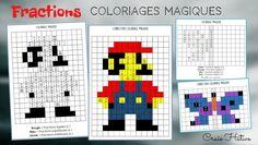 Fractions : Coloriages magiques Comparer Des Fractions, Diy École, Multiplication Posée, Introduction To Fractions, Pizza Fractions, Addition Of Fractions, Math 5, Math Centers, Special Education