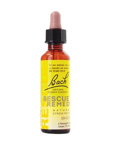 Destresser in a Bottle    Stress eraser: Contains flower essences to ease anxiety. Bach Rescue Remedy, $10;