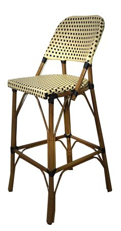 Paris Outdoor Patio Barstool Small Patio Furniture, Paris Style, French Cafe, Design Firms, Arctic, Lighter, Bar Stools, Weave, Powder