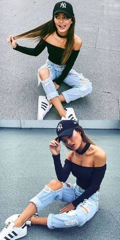 Fall Fashion Outfit Off Shoulder Bodycon Shirt Top Fall Fashion Outfits, Teen Fashion, Spring Outfits, Autumn Fashion, Womens Fashion, Fall Fashions, Couture Outfits, Fashion 2018, Fashion Spring