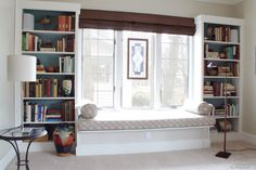 Built in shelves around window. The silliest thing in the modern world is a space with amazing windows but no chance to take a seat close to them and look outside. For this reason you may want  several window seats in the home.