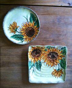 Sunflower Kitchen Dishes on Etsy, $24.95