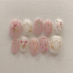 Cute Nail Art, Cute Nails, Pretty Nails, Korean Nail Art, Korean Nails, Minimalist Nails, Nail Swag, Asian Nails, Nagel Bling