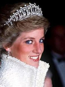 Princess Diana in the Lover's Knot tiara. It was made for Queen Mary.