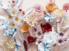 handcrafted paper flowers by Thuss + Farrell / Paper to Petal