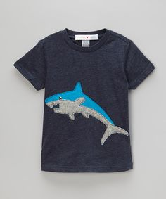 Another great find on #zulily! mini scraps Blue Shark Tee - Infant, Toddler & Boys by mini scraps #zulilyfinds