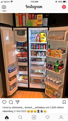 Game Room Decor Ideas To Transform Your Spare Bedroom Or Home Office Refrigerator Organization, Kitchen Organization, Organizing, Sleepover Food, Junk Food Snacks, Apartment Checklist, Game Room Decor, Food Goals, House Goals