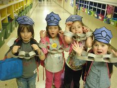 Miss Chamblee's Kinderfriends: Oh the Hats Community Helpers Wear... Preschool Classroom, Toddler Preschool, Kindergarten, Preschool Ideas, Preschool Crafts, Classroom Ideas, Community Workers, School Community, Officer Buckle And Gloria