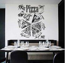 ik1024 Wall Decal Sticker pizza ingredients  Pizzeria Italian Restaurant