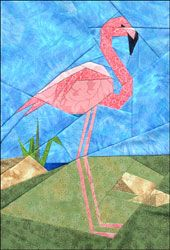 Flamingo Paper Pieced Pattern at paperpanache.com