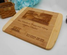 Realtor Closing Gift, Closing Gift, Real Estate Agent Closing Gift, Personalized Bamboo Cutting Board, Custom Engraved Bamboo Cutting Board