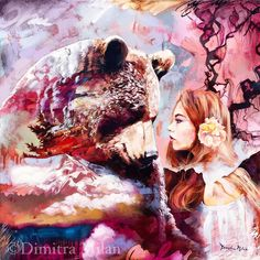 By a 16year old artist named Dimitra Milan who lives in the US. Find her at https://www.dimitramilan.com/