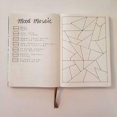 Creative Inspiration: Mosaic Mood Tracker. Bujo spreads Planner ideas bullet journal trackers (@bujojanne) #bulletjournal #bujotracker