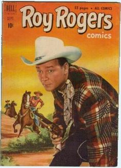 Roy Rogers Comics (Sep Dell) for sale online Old Comic Books, Old Children's Books, Vintage Comic Books, Vintage Comics, Comic Book Covers, Western Comics, Dale Evans, Tv Westerns, Roy Rogers