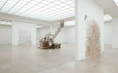 Diana Al-Hadid is a Syrian born American artist living and working in New York. Her practice spans scale and media, creating works that hover between sculpture and painting.