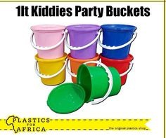 Busy planning your little ones birthday party? These 1lt #party buckets are great for giveaways at your kid's birthday party. Available from your nearest #PlasticsforAfrica store.