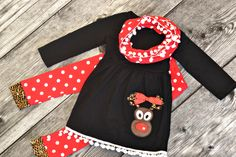 Rudolph Dot Tunic Set from $14.40 for one week only!