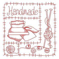 Sweet Heirloom Embroidery Design: Redwork Handmade Sewing 3.80 ...