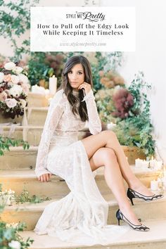 How to Pull off the Edgy Look While Keeping It Timeless Pull Off, Edgy Look, Portrait Inspiration, Wedding Photoshoot, Bridal Portraits, Bridal Looks, Beautiful Bride, Style Me, White Dress