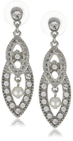 1928 Bridal Amore Interwoven Bridal Earrings - 1928, Amore, Bridal, Earrings., Interwoven http://designerjewelrygalleria.com/1928-jewelry/1928-earrings/1928-bridal-amore-interwoven-bridal-earrings/